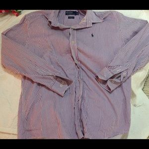 Polo Ralph Lauren Purple & White striped Button Up